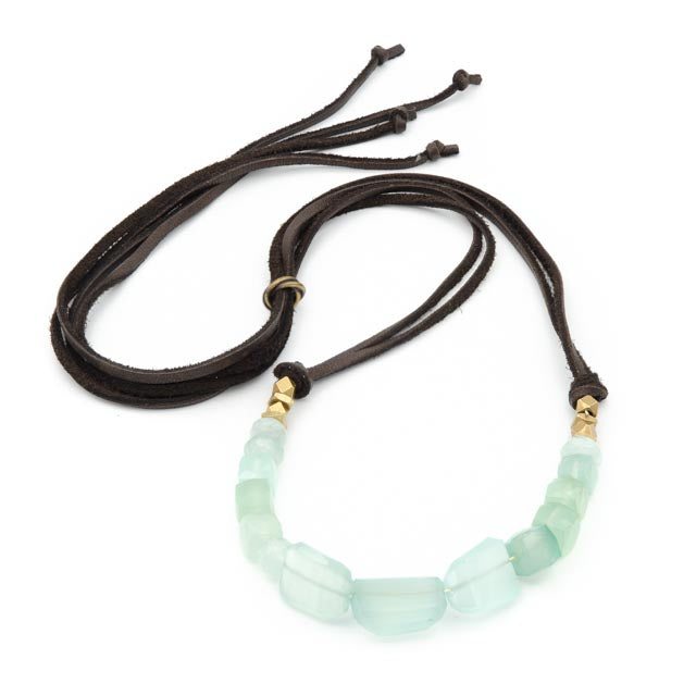 Lake Hennessey Necklace, Chalcedony