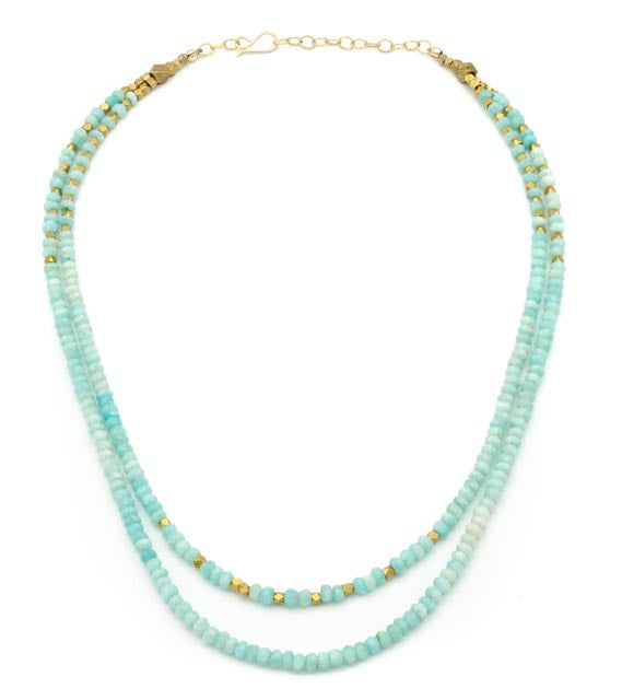 Atlas Peak Short Layered Necklace Amazonite