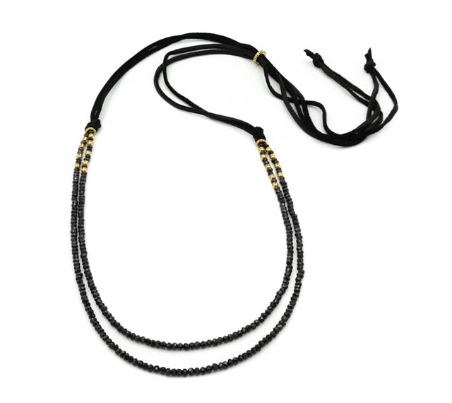 To Kalon Convertible Necklace, Black Spinel