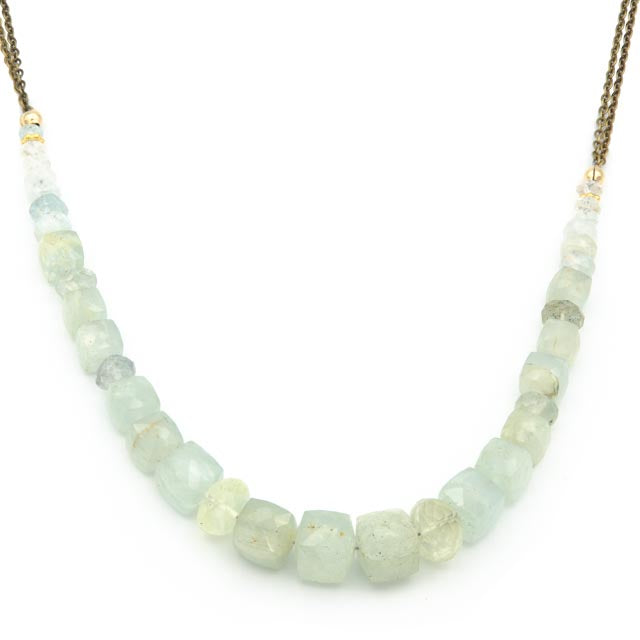 "Glos Lane Necklace 20"" Aquamarine"