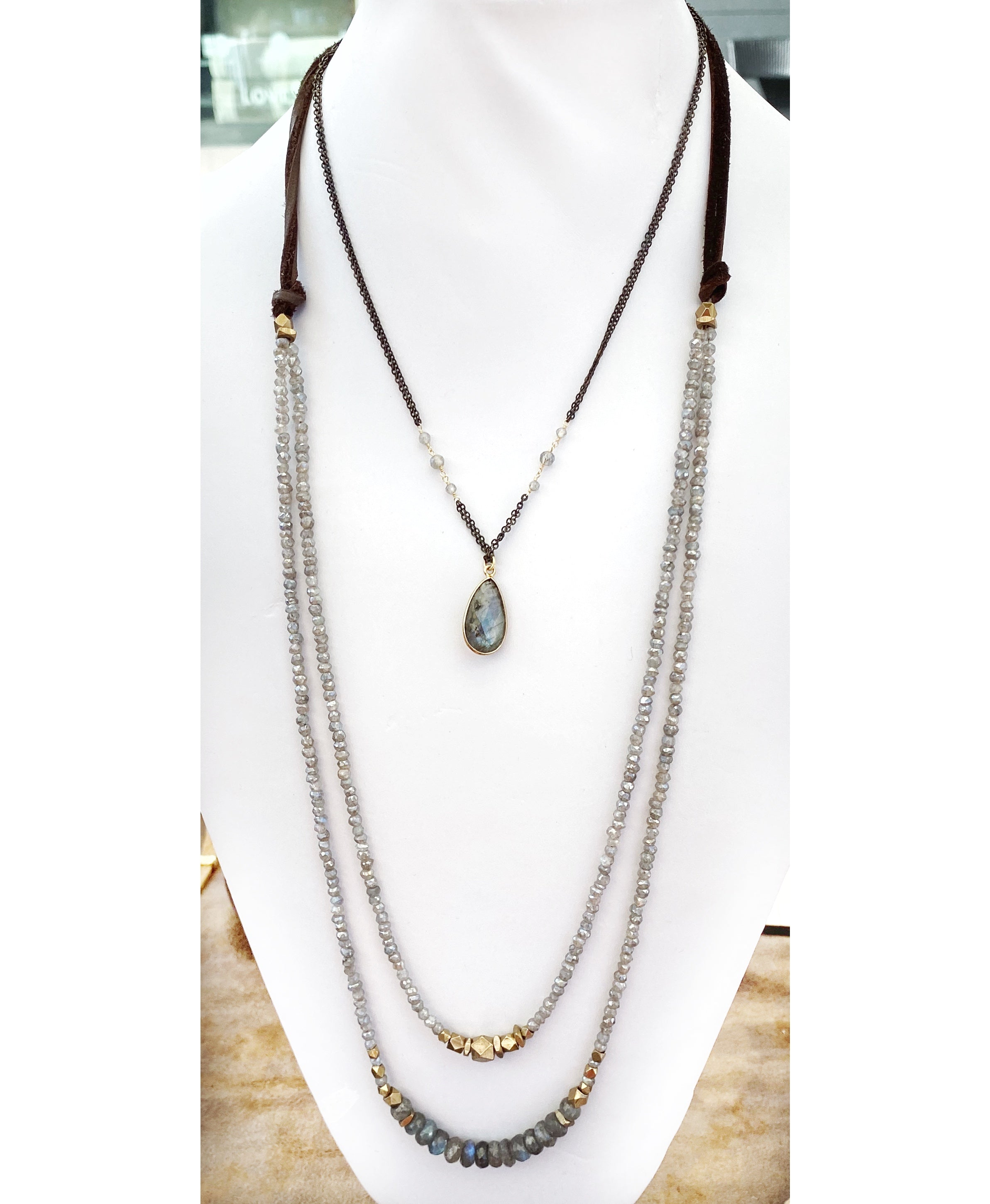 Valley View Pendant Necklace Labradorite