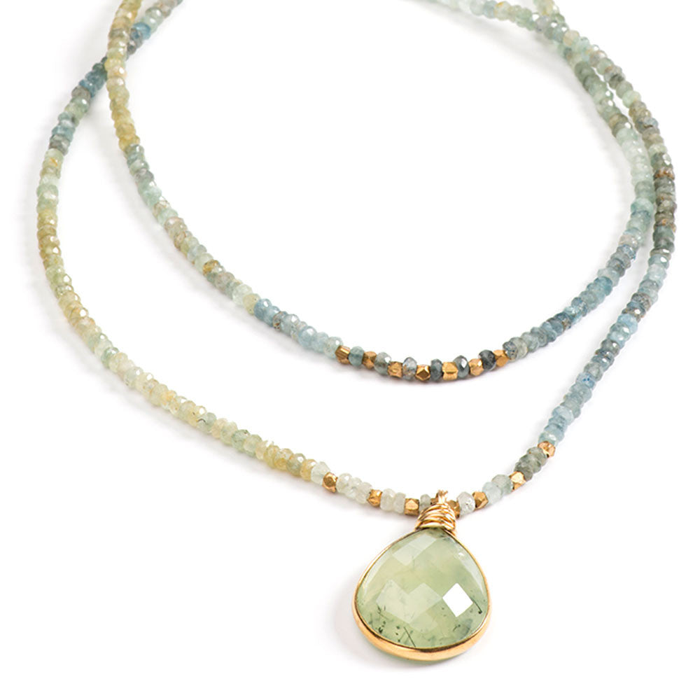 Avalon Necklace Aquamarine