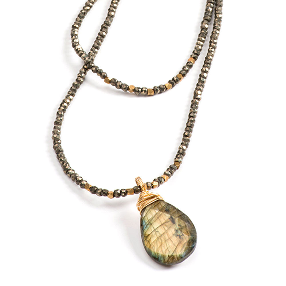Avalon Necklace Pyrite