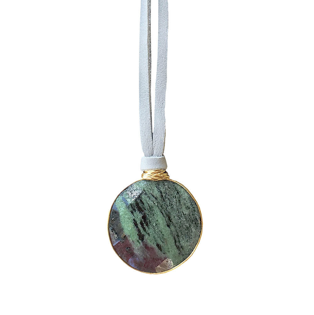 Monterey Necklace Ruby Zoisite