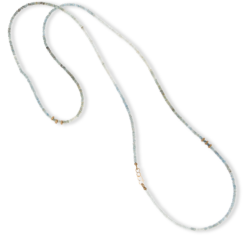 Catalina Long Necklace Aquamarine