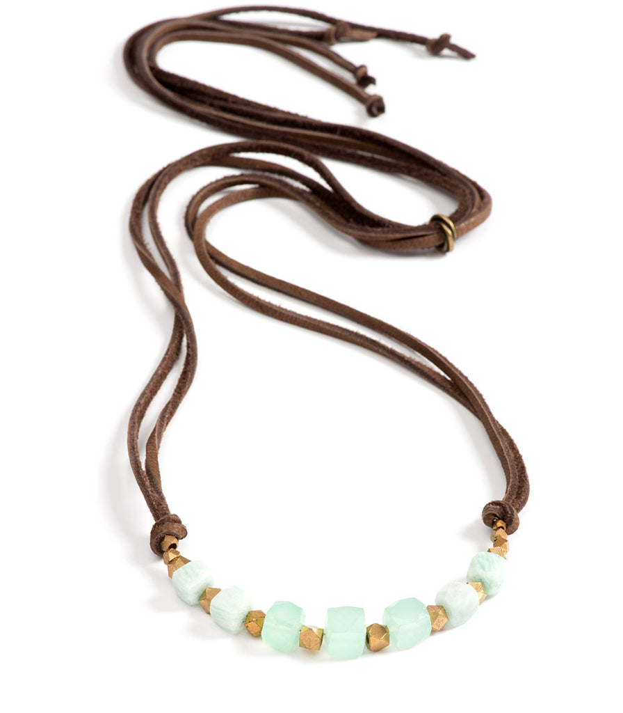 Georgie Necklace Chalcedony