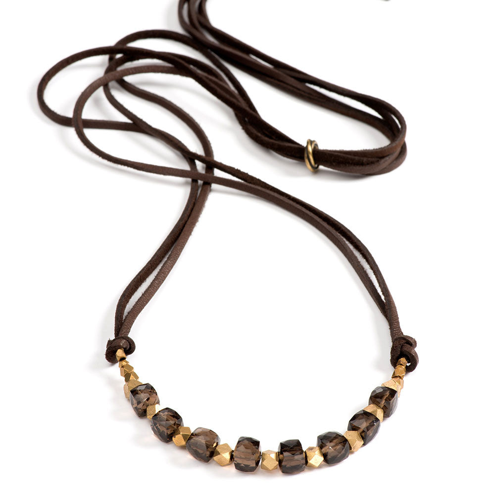 Georgie Necklace Smokey Quartz