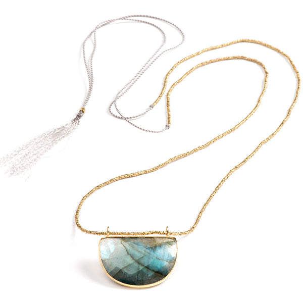 Marina Necklace Labradorite