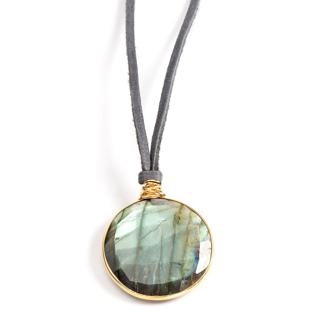 Luna Necklace Labradorite