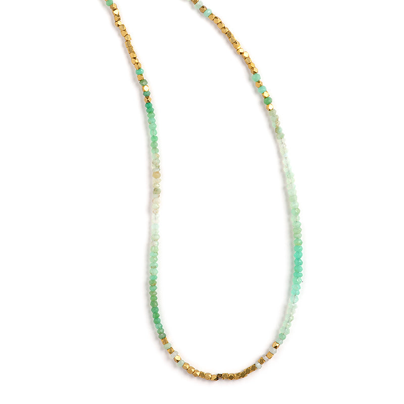 Soda Canyon Infinity Necklace Chrysoprase