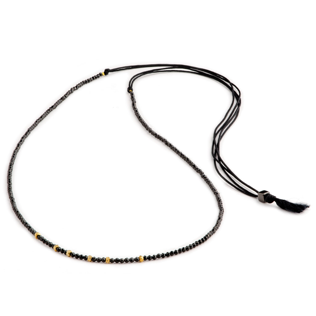 Elegance Necklace Black Spinel