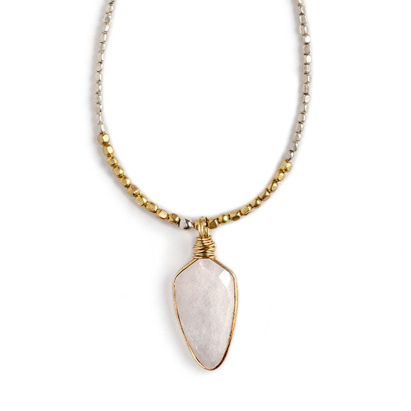 "Madrona 36"" Necklace Rainbow Moonstone"