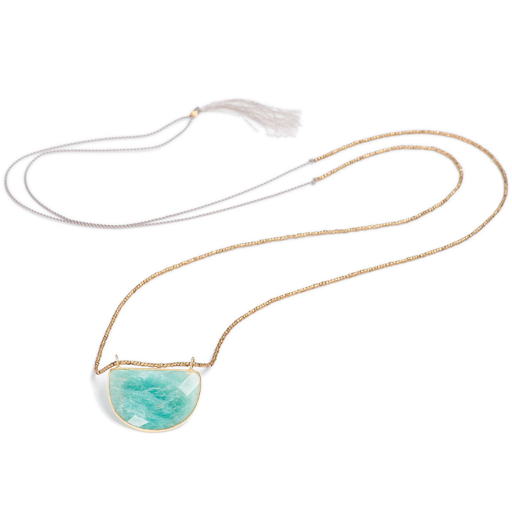 Oak Knoll Convertible Necklace Amazonite
