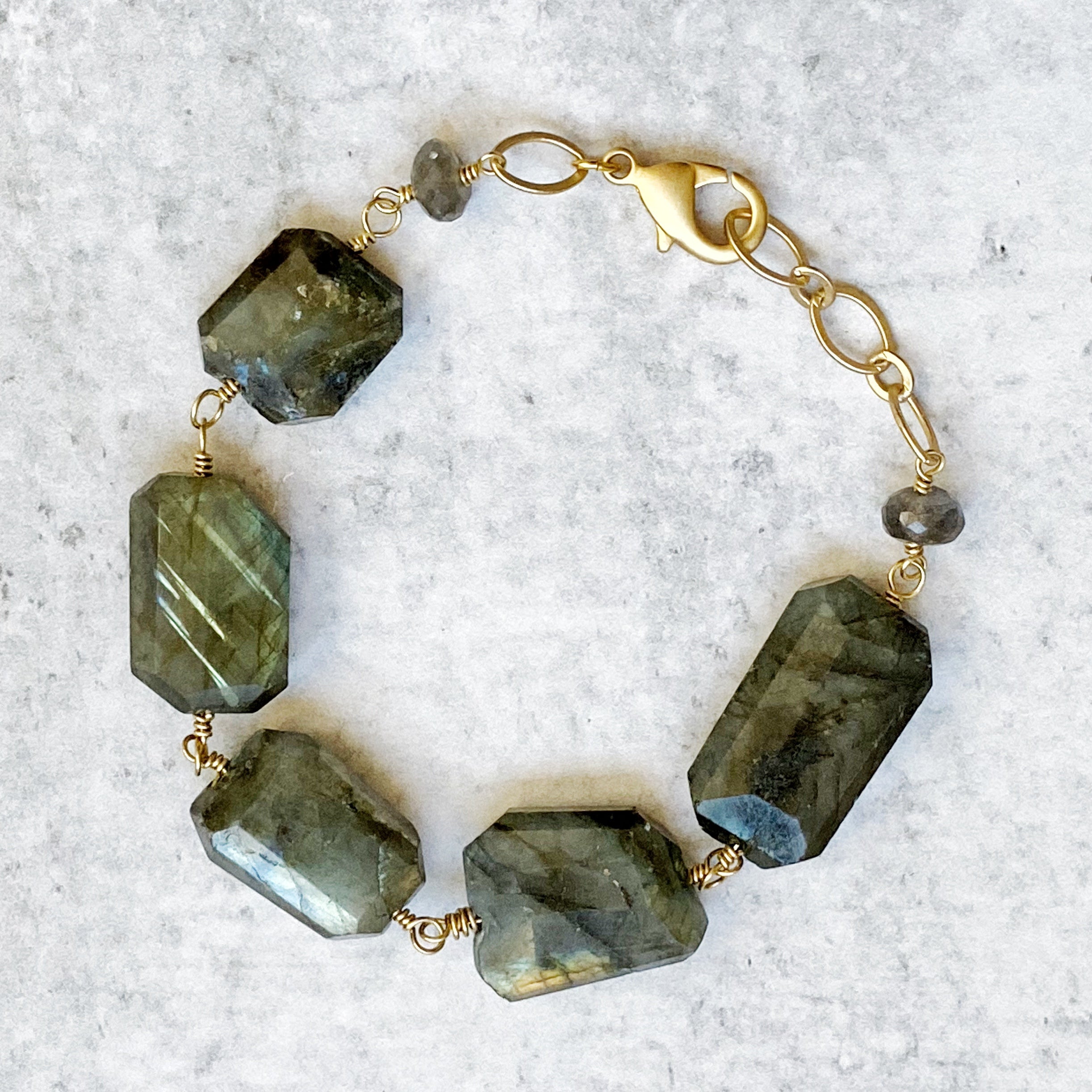Glass Mountain, Lea Labradorite Bracelet