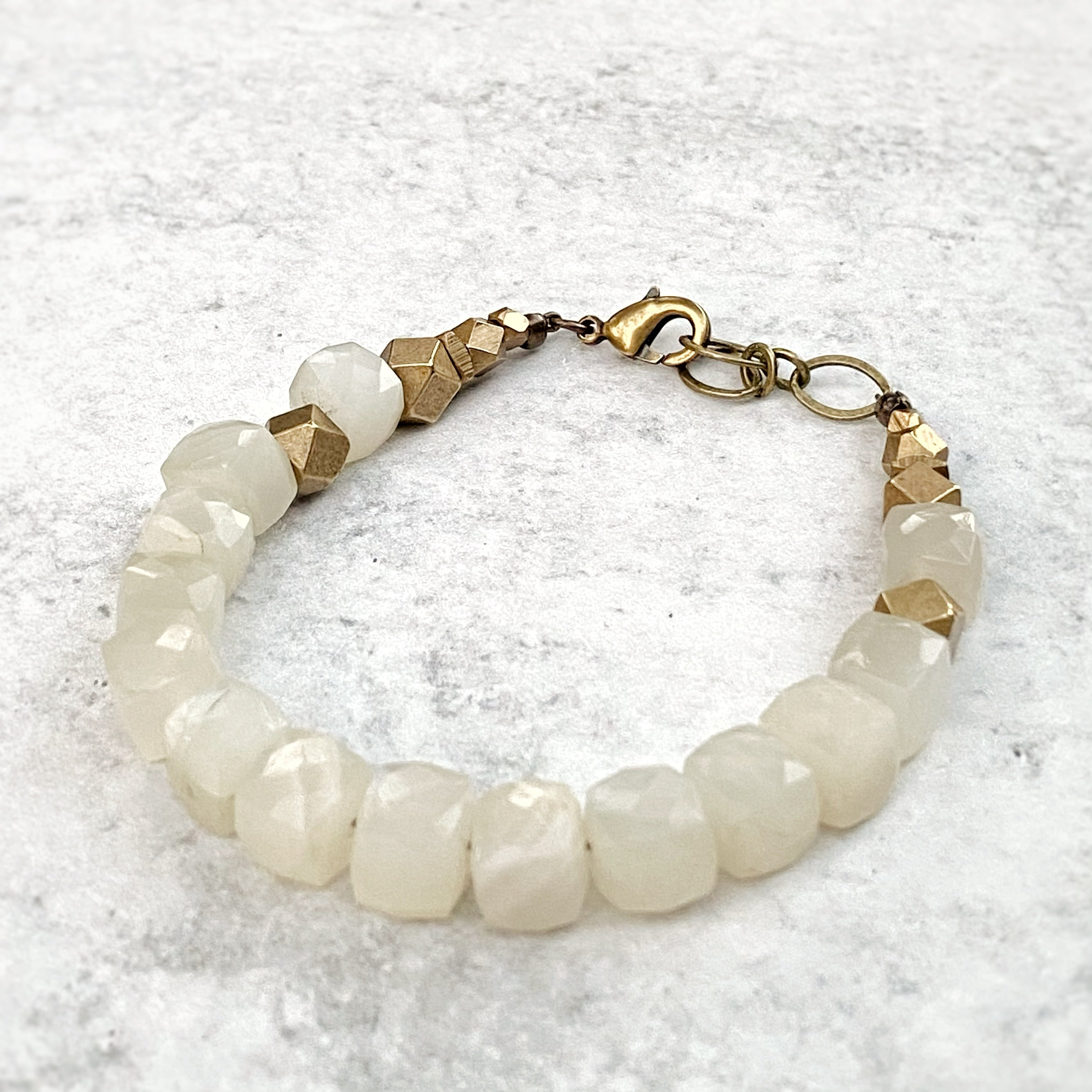 Yountville Single Strand Bracelet, Moonstone