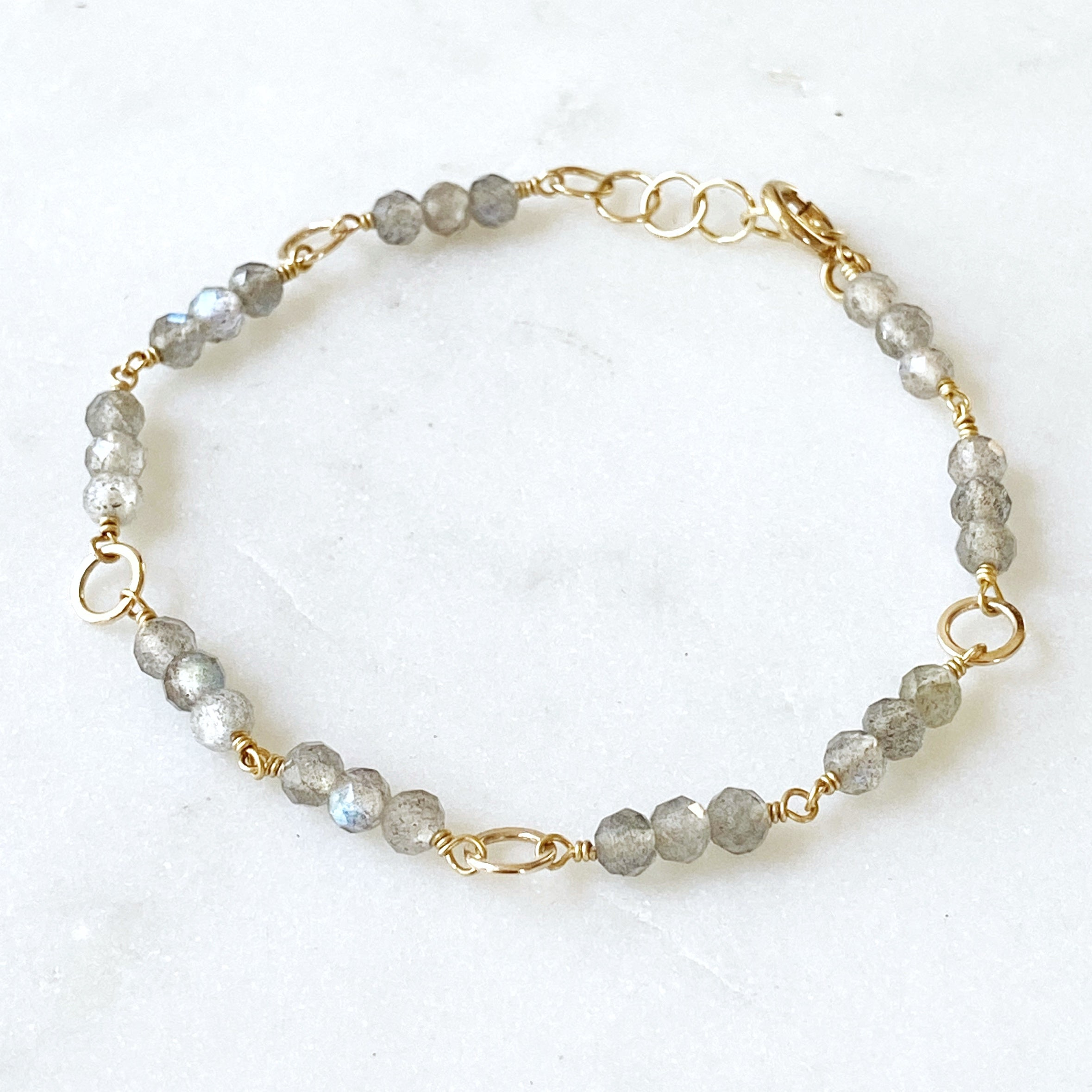 Glass Mountain Collection, Laurent Bracelet Labradorite