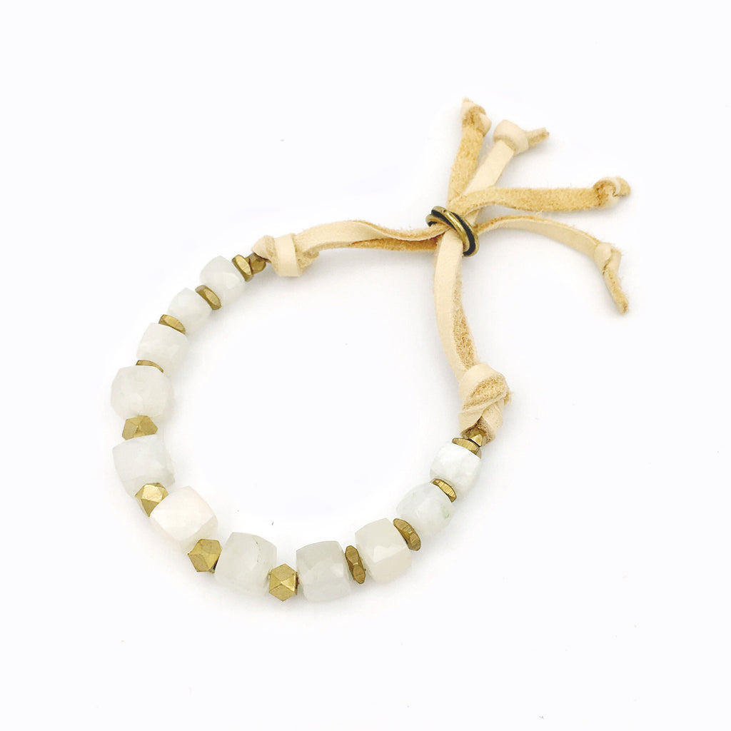 Georgie Bracelet Grey Moonstone