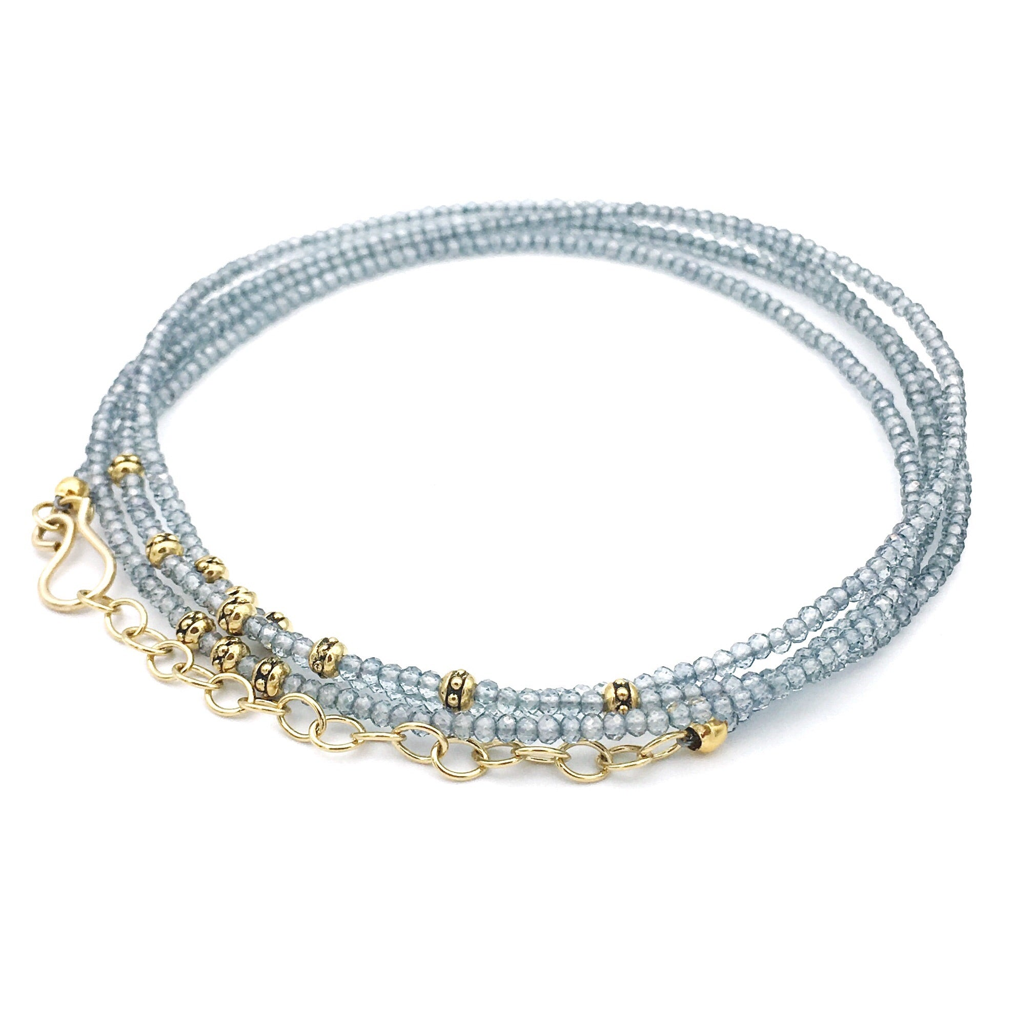 Elegance ESD Necklace Aqua Quartz