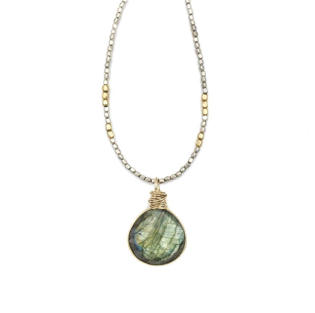 "Madrona 36"" Necklace Labradorite"