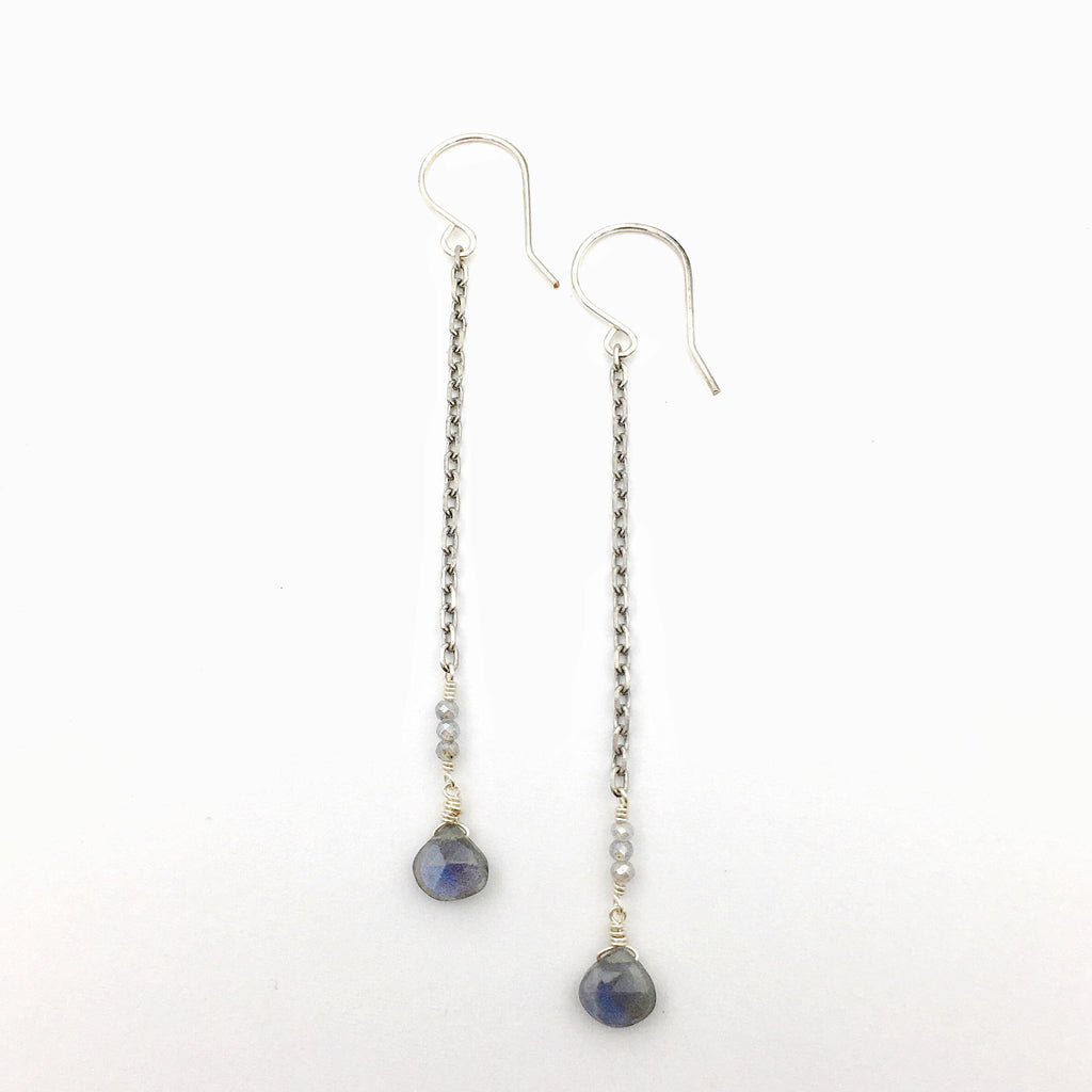 Strand Earrings Labradorite