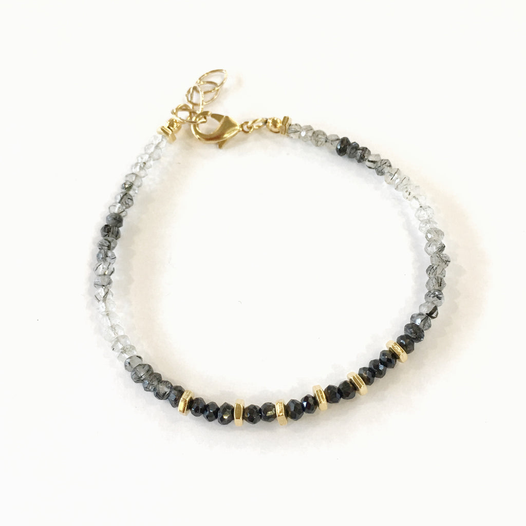 Graduate Bracelet, Rutilated Quartz