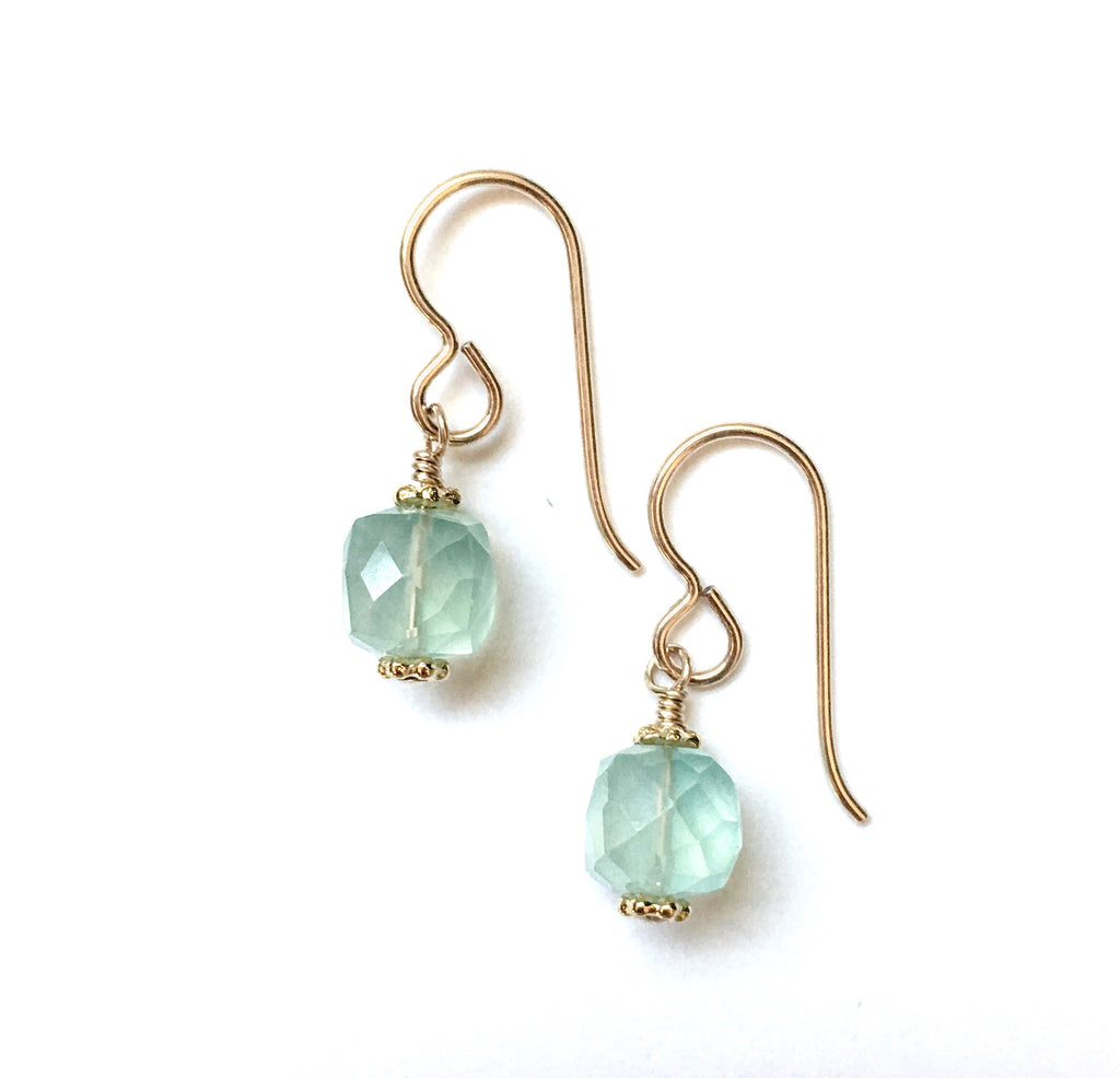 Cubist Chalcedony Earrings