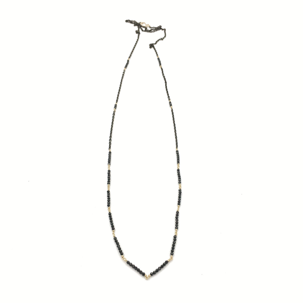 Elegance Segment Necklace, Spinel