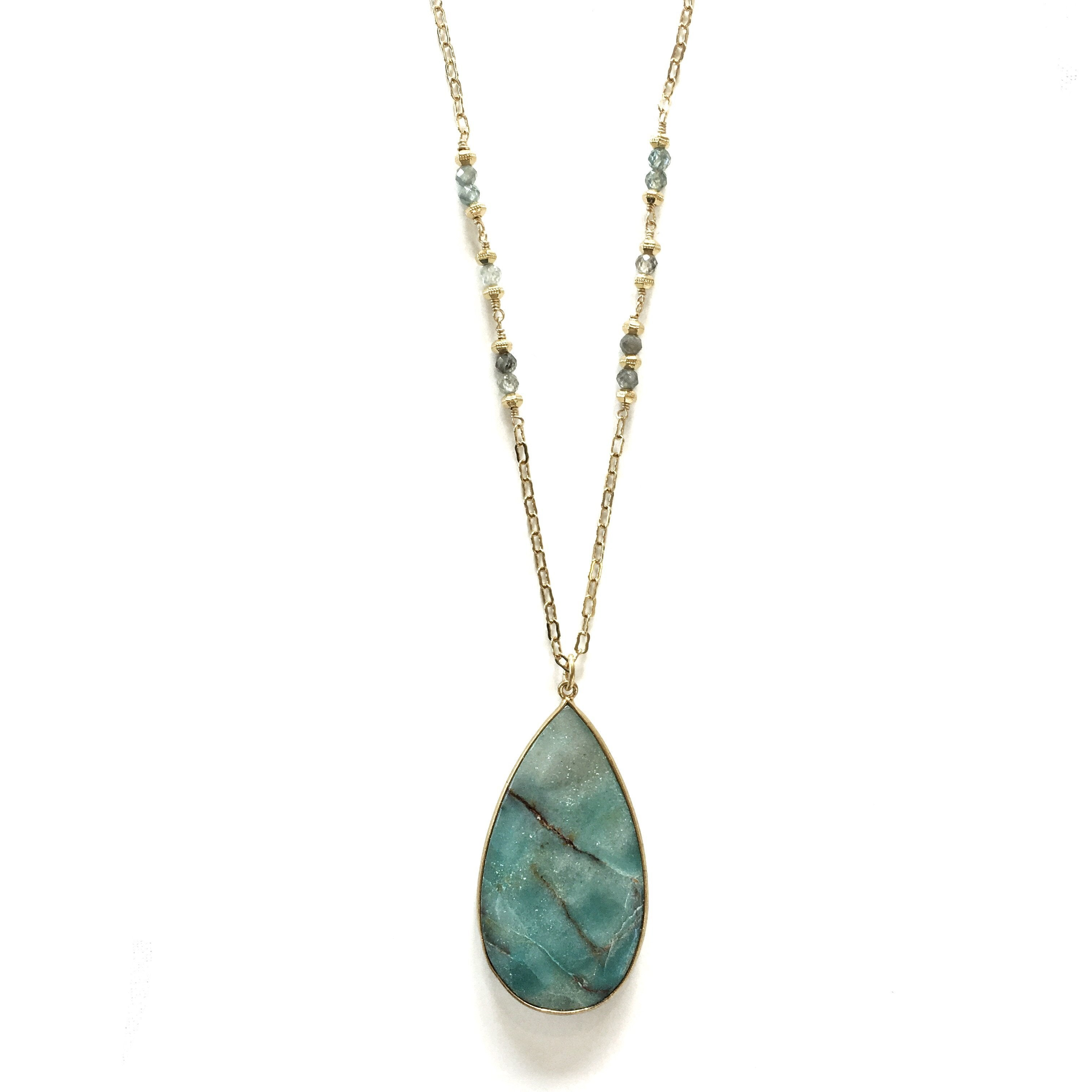 Tidal Necklace, Chrysocolla