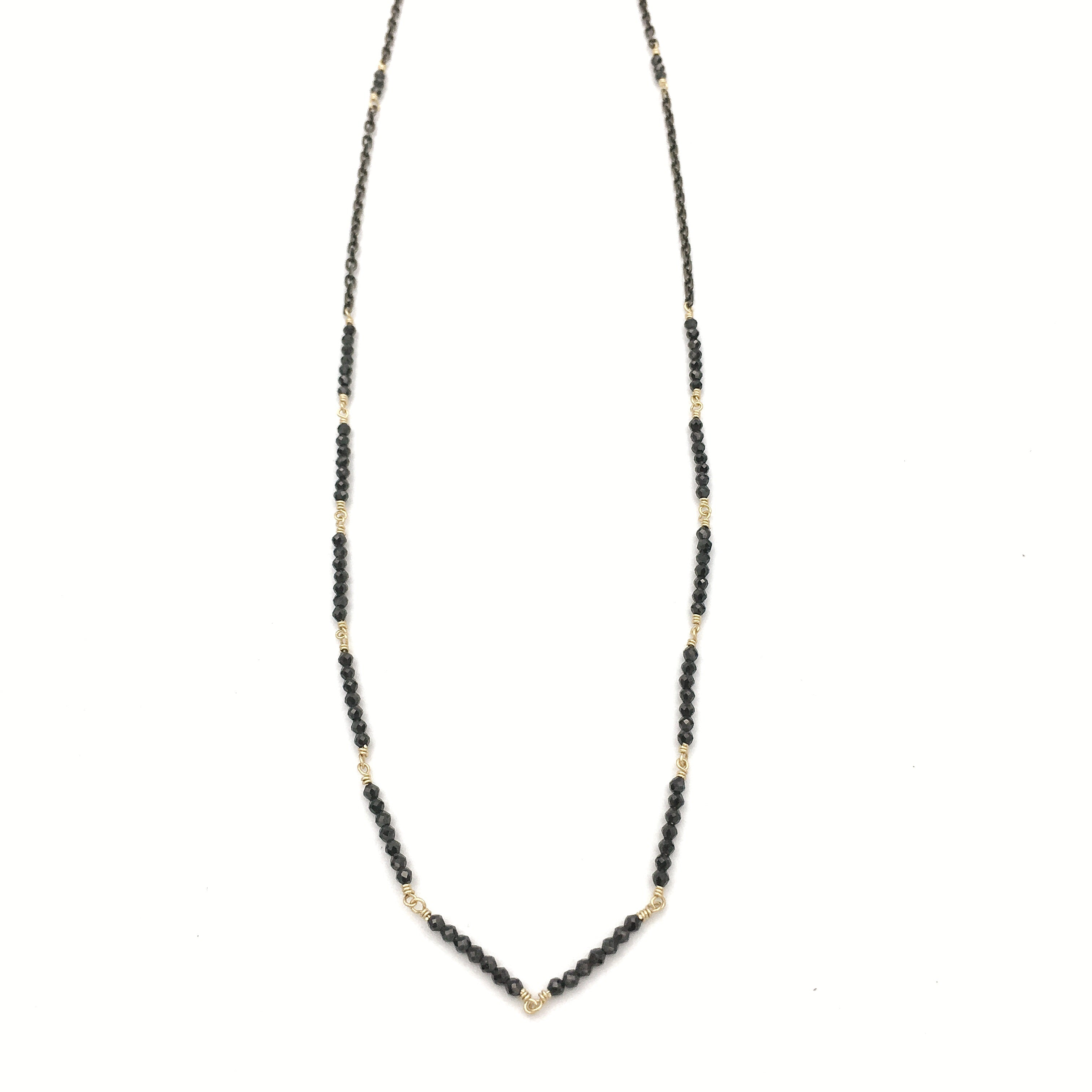 Glass Mountain Segment Necklace, Spinel