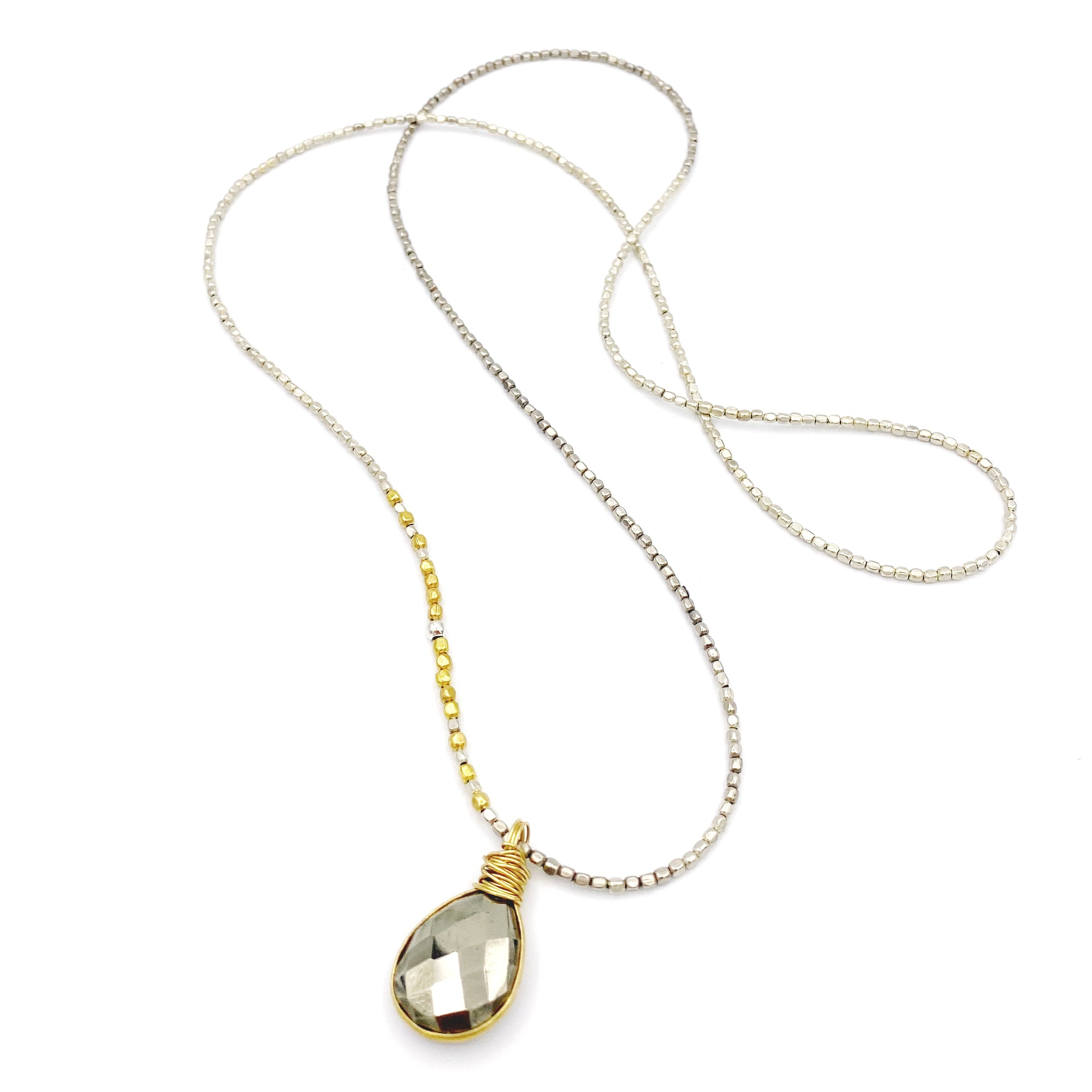 Madrona Infinity Necklace Pyrite