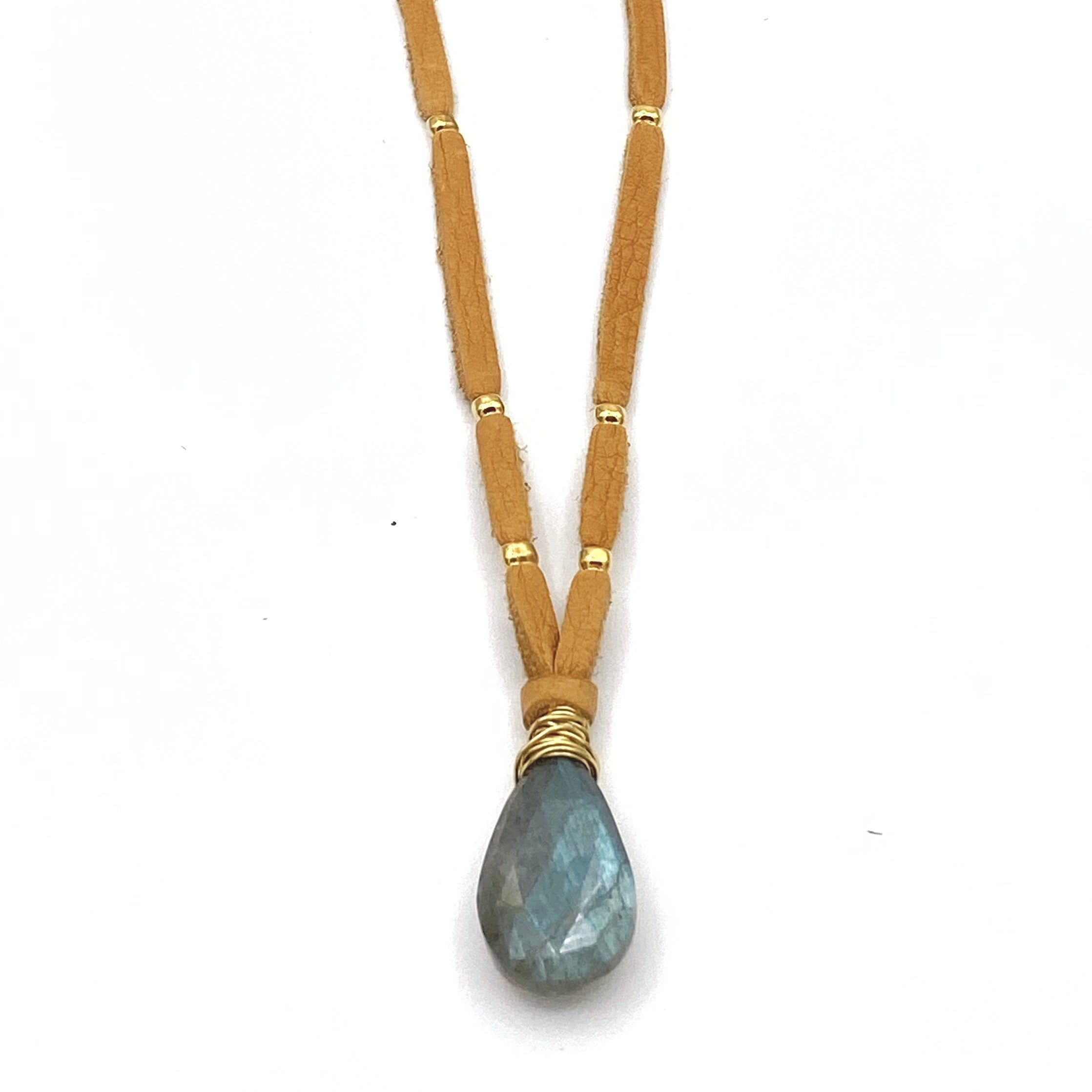Money Lane Pendant, Labradorite (Faceted)