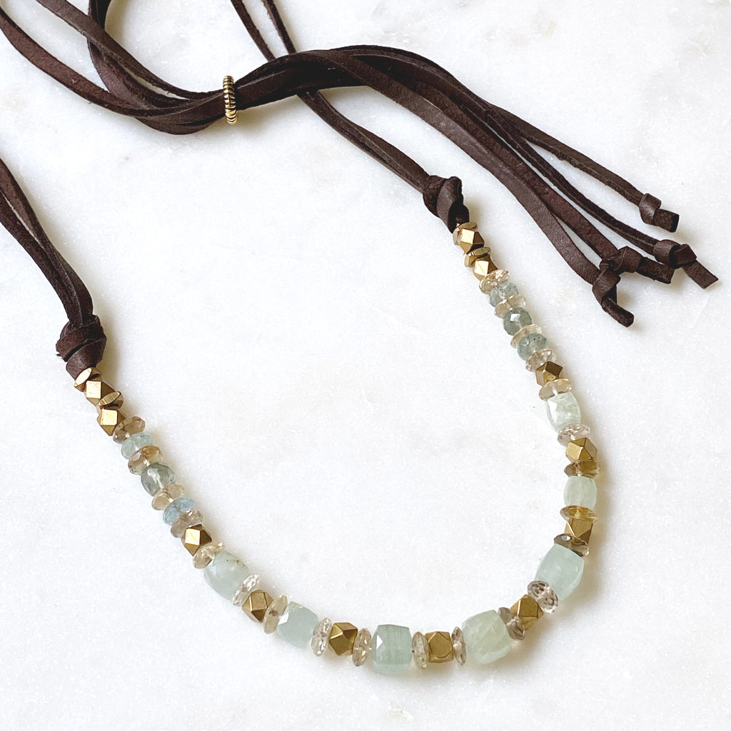 Bennet Necklace, Aquamarine