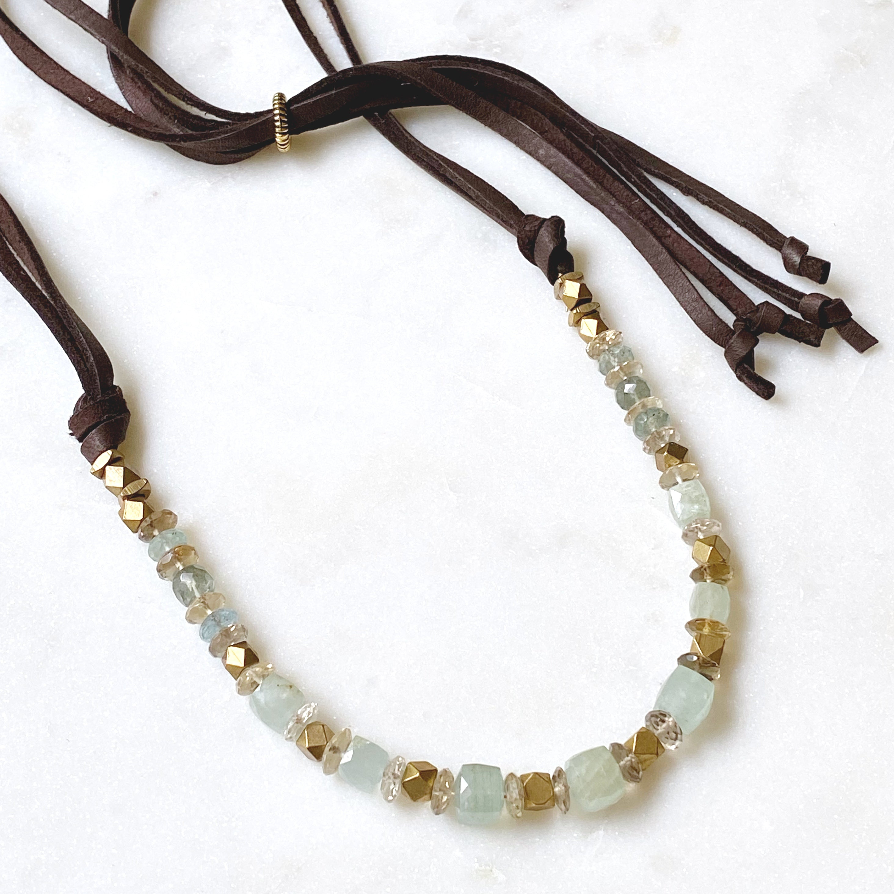 Bennett Necklace, Aquamarine