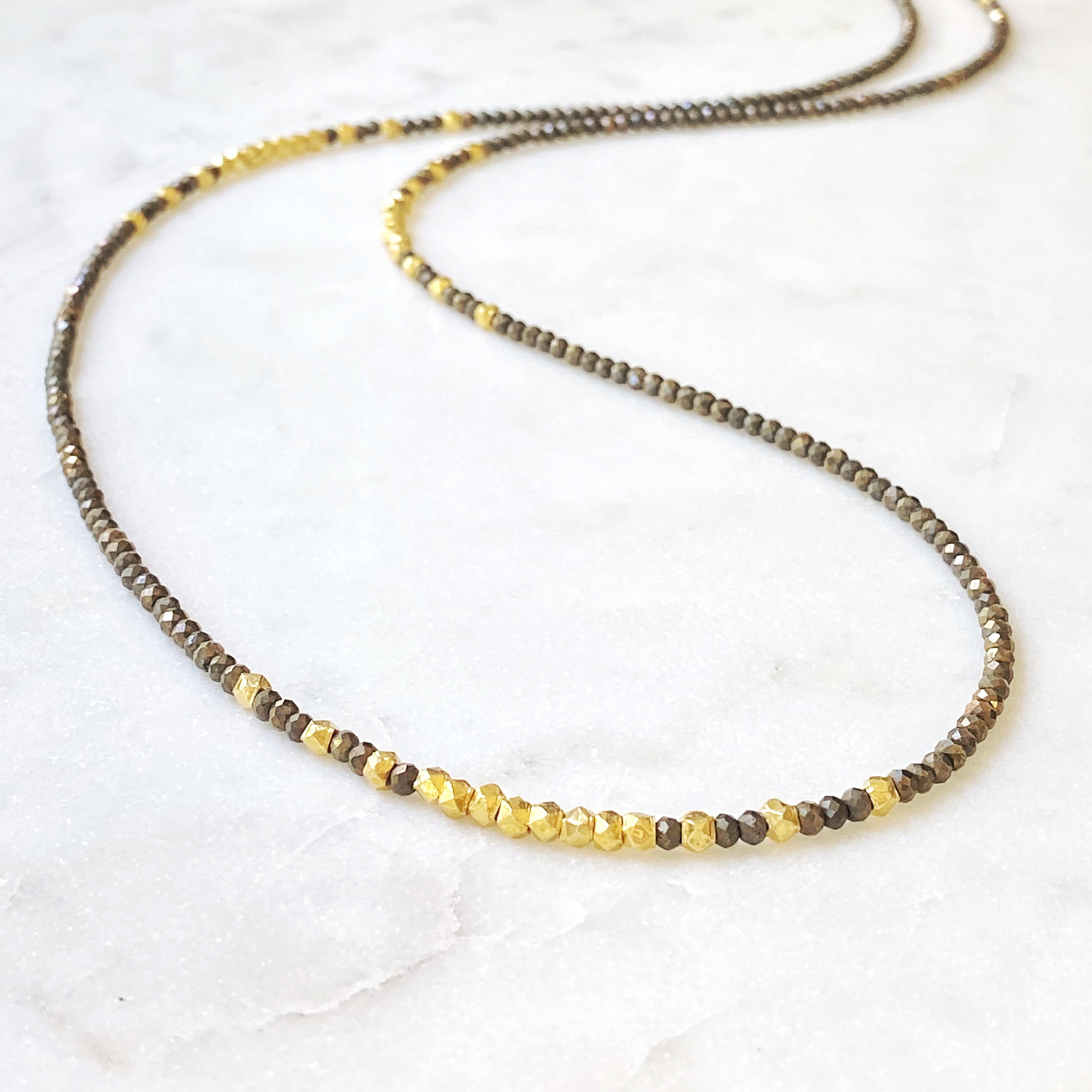 Atlas Peak Necklace, Pyrite