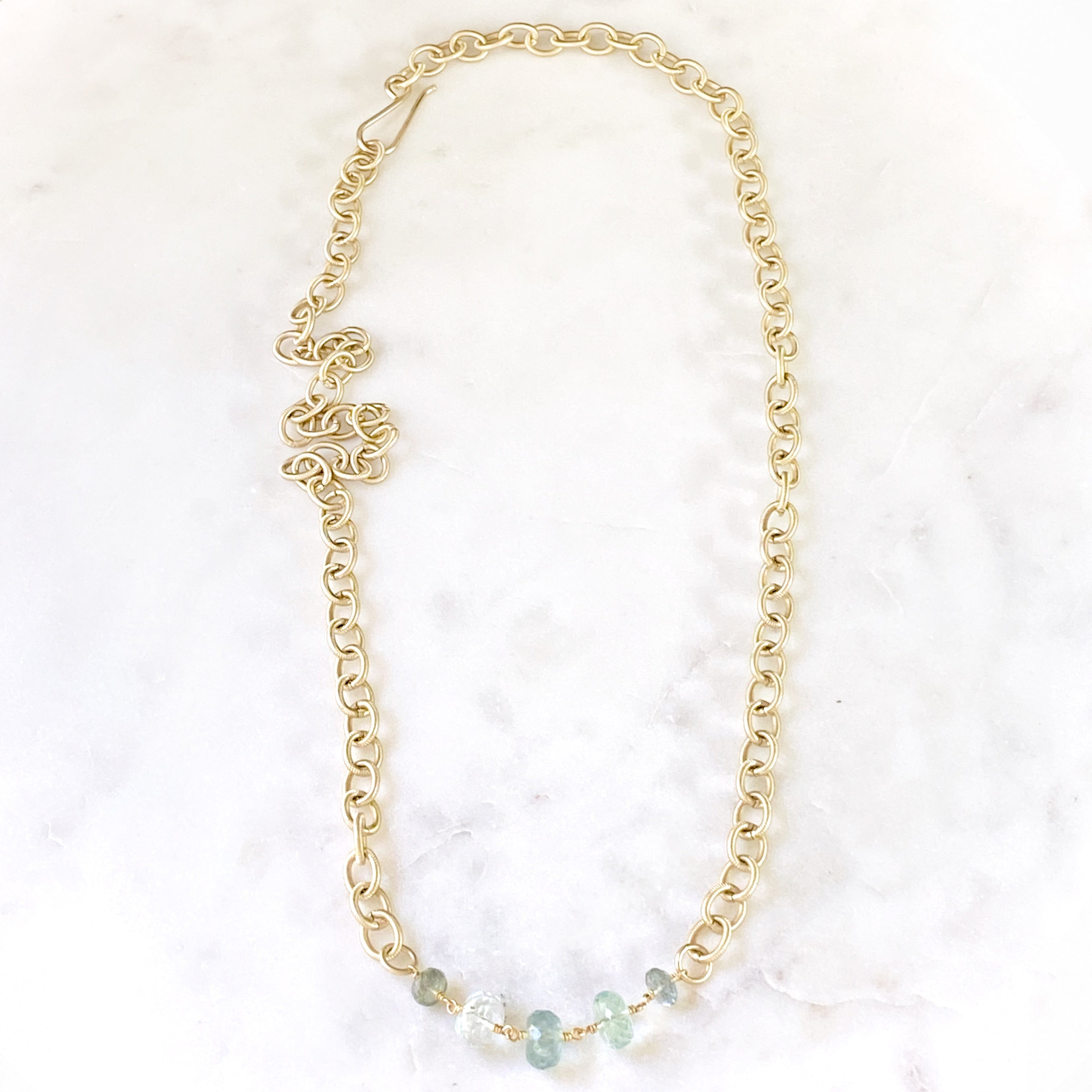 Hydra Necklace, Aquamarine