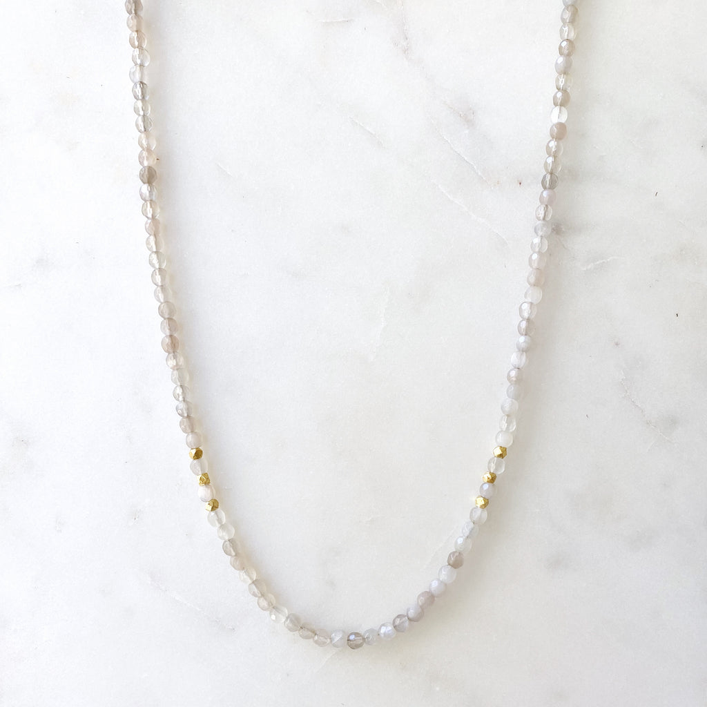 Headwaters Necklace Grey Moonstone