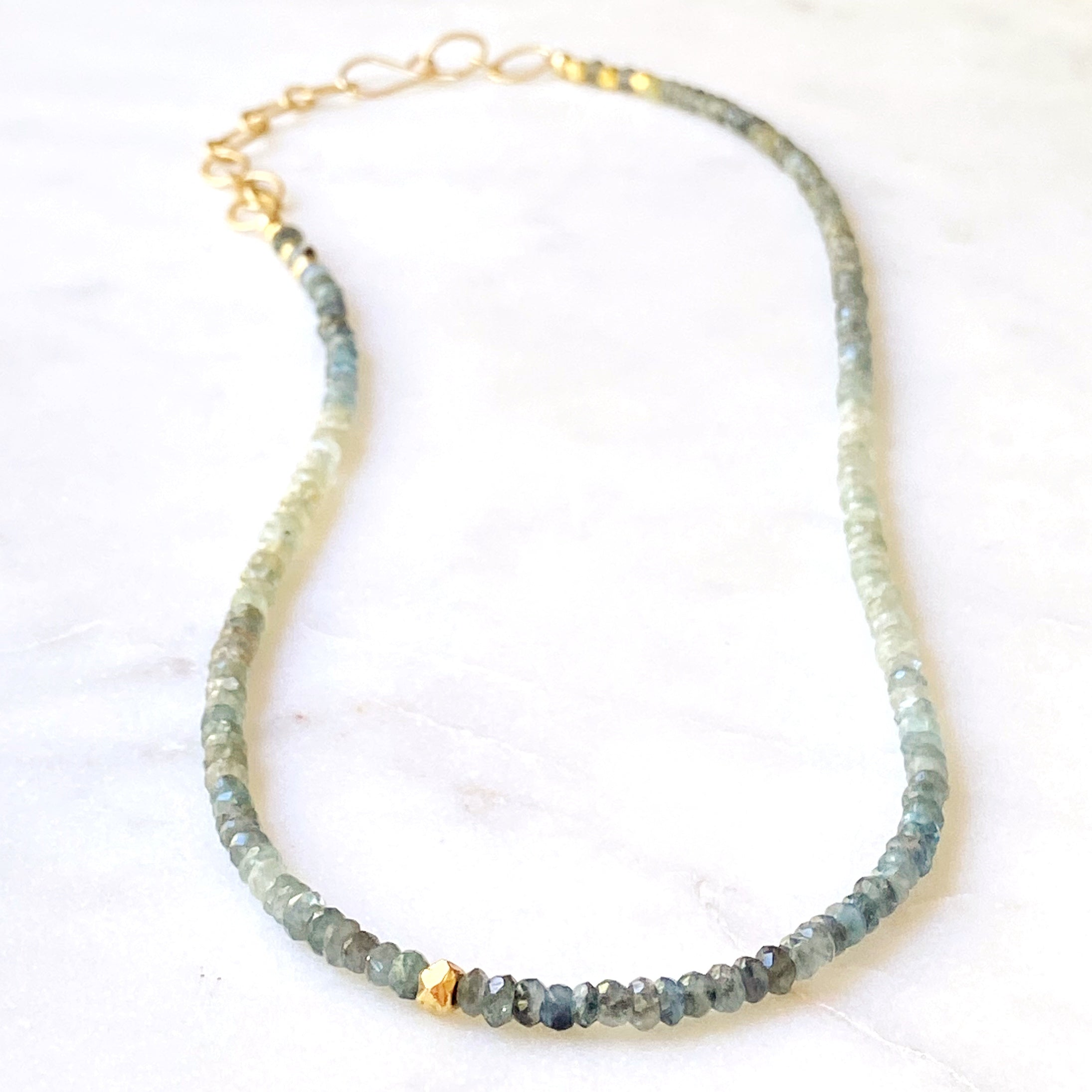 Headwaters Necklace Moss Aquamarine