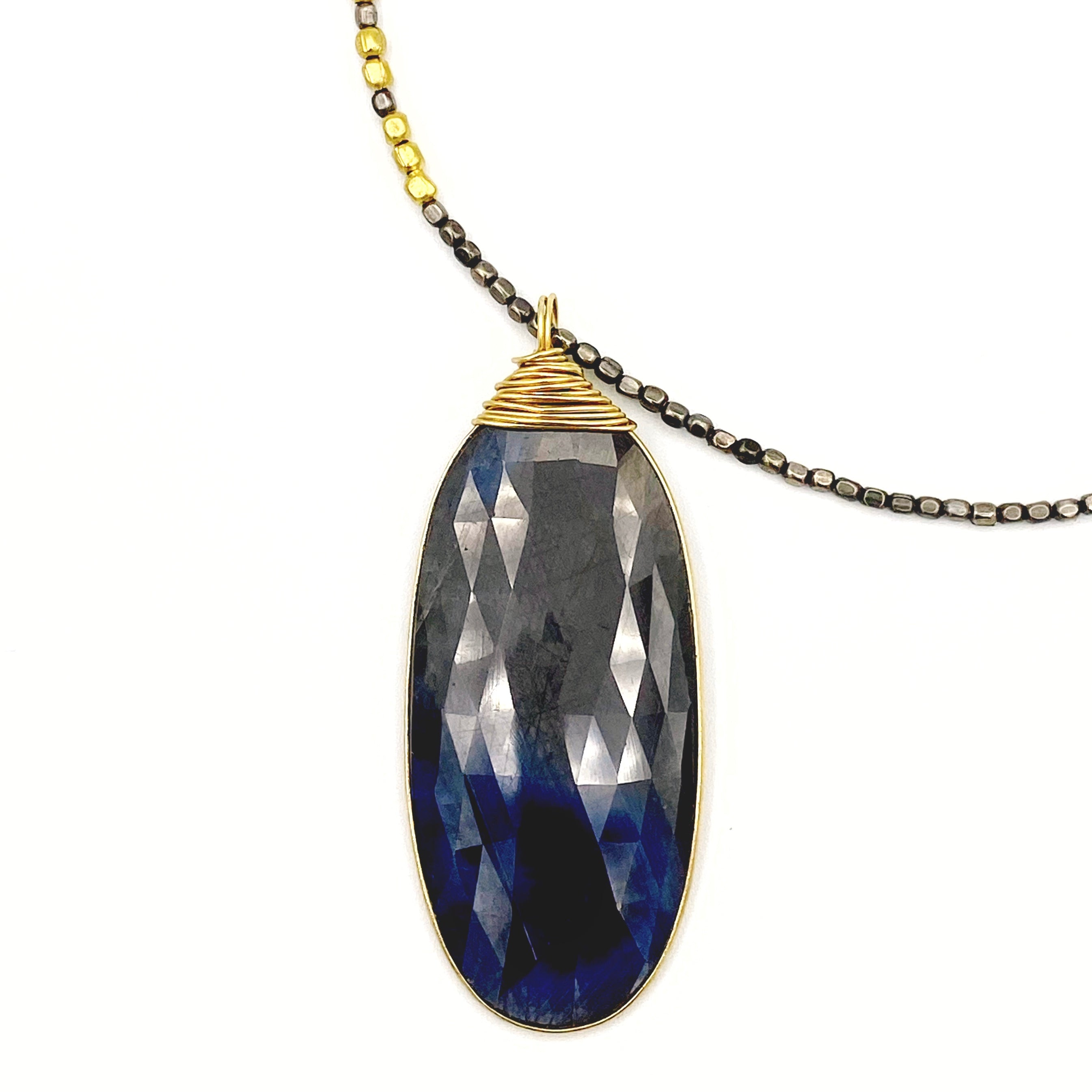 Madrona OOAK Sapphire Pendant Necklace
