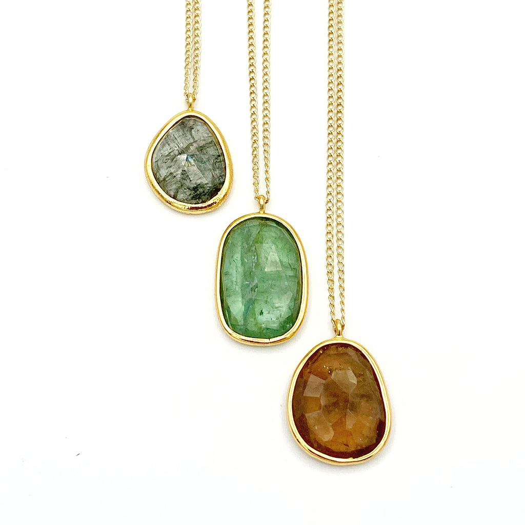 Tessa Tourmaline Necklace, Earthtones