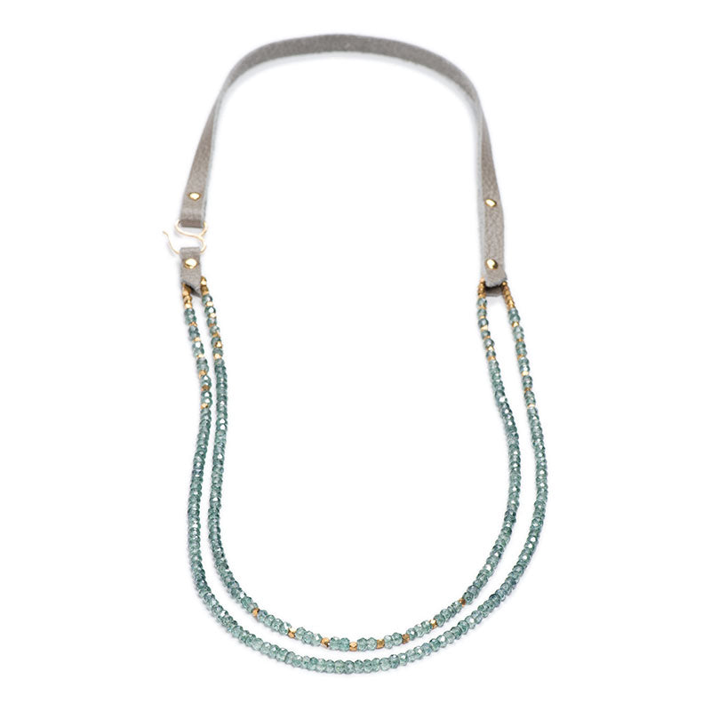 "Napa Necklace 26"" Teal Quartz"