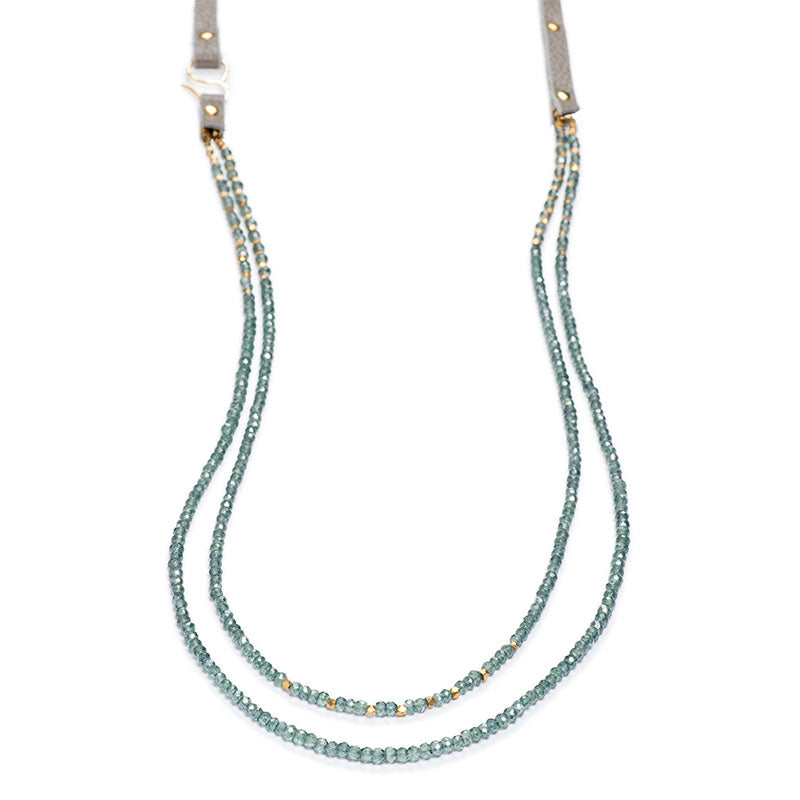 "Napa Necklace 36"" Teal Quartz"