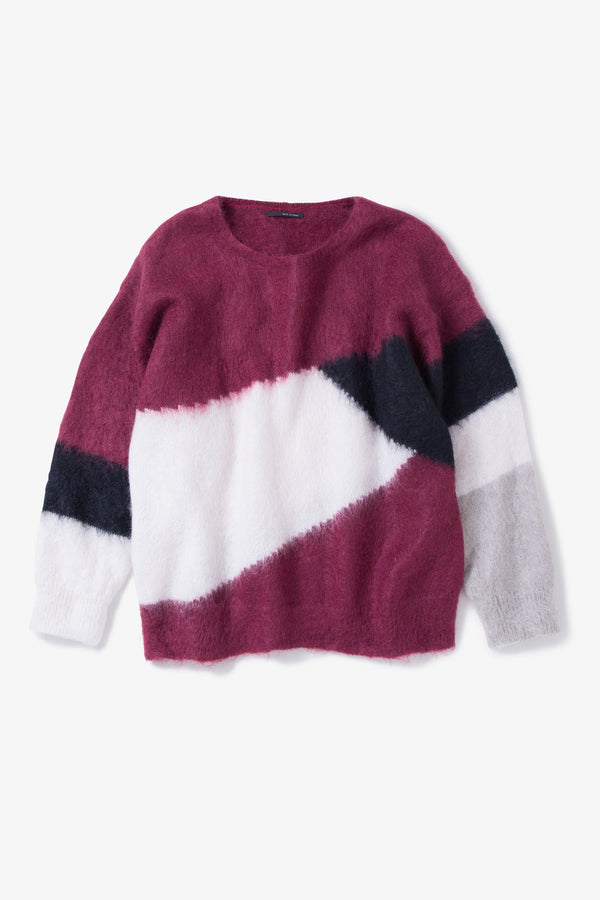 INSONNIA MOHAIR PANEL KNIT WINE