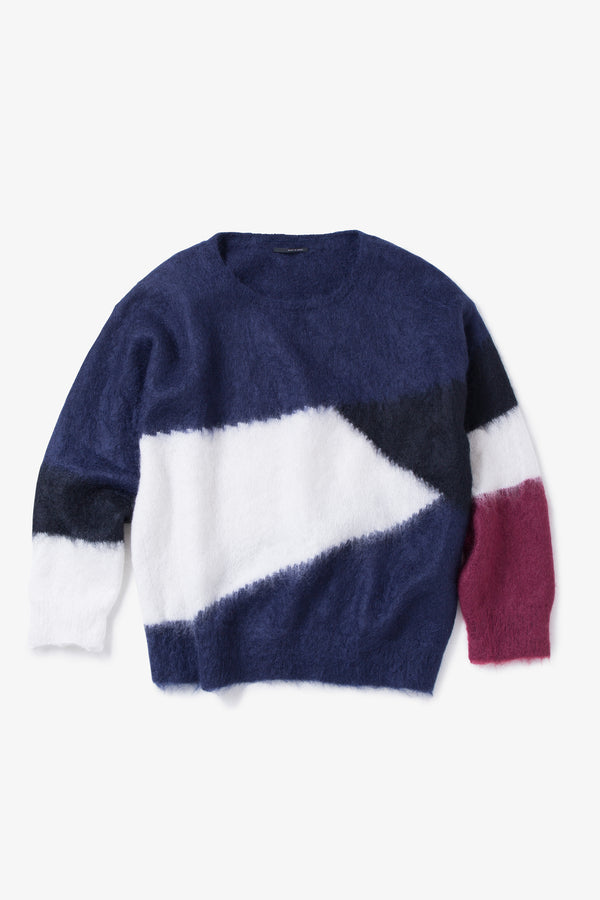 INSONNIA MOHAIR PANEL KNIT NAVY