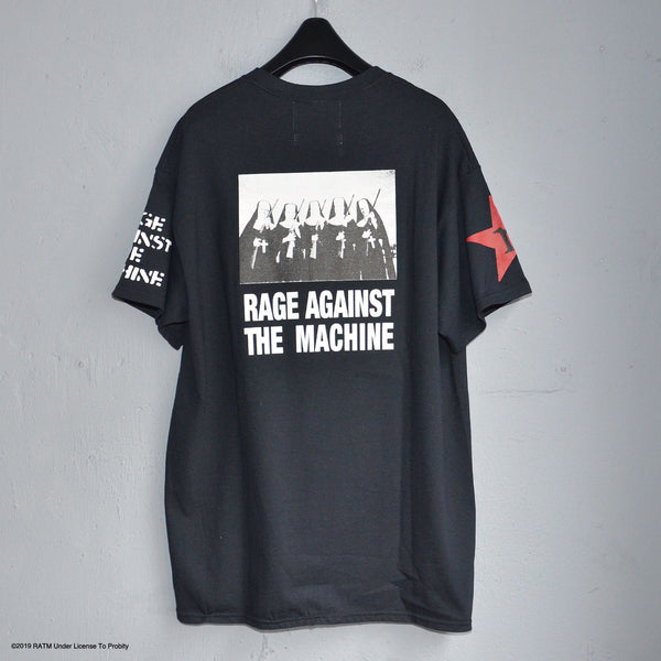 × LABRAT Rage IS first×Num&Guns TEE BLACK