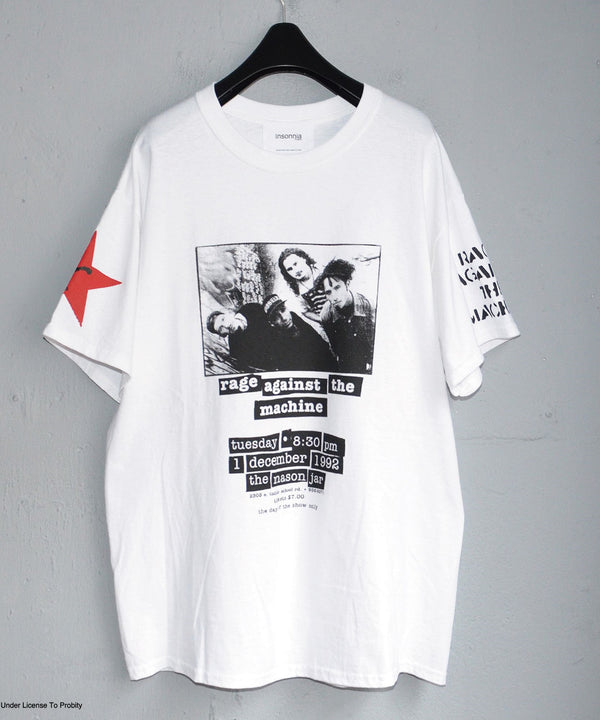 × LABRAT Rage IS first×Num&Guns TEE WHITE