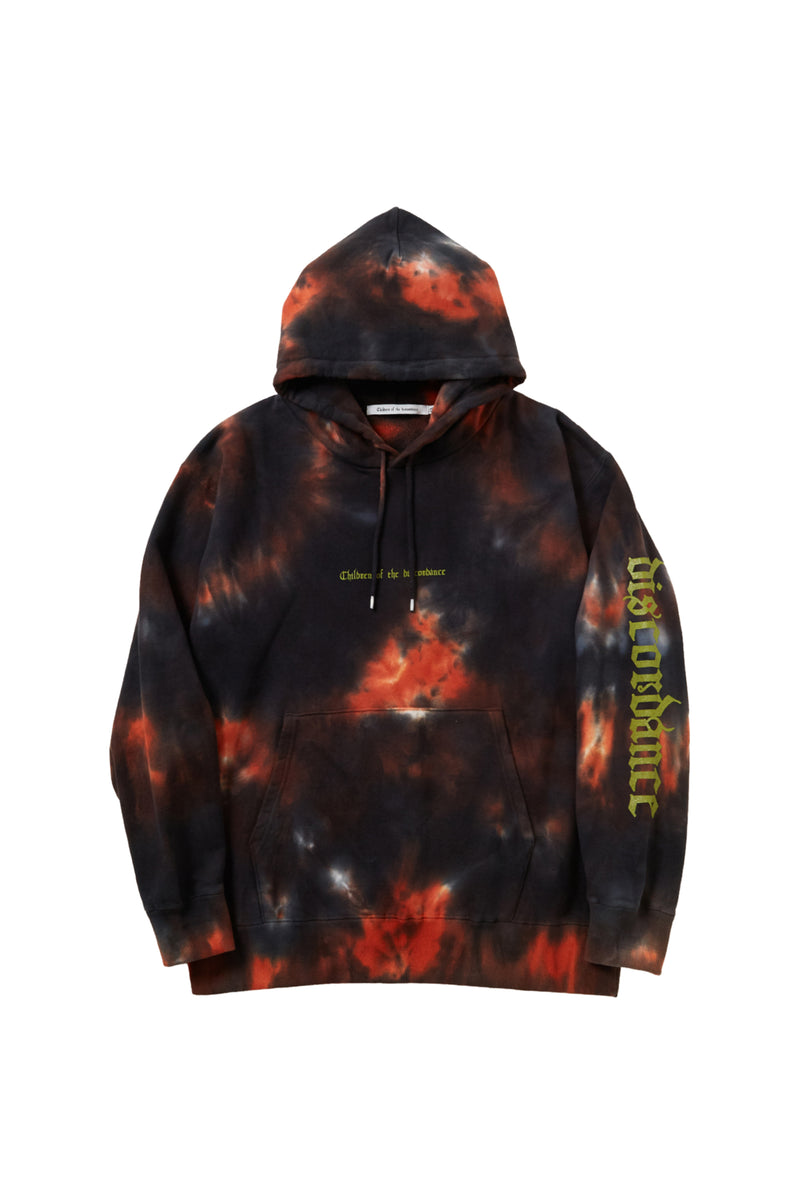 HAND DYEING AND PRINT HOODIE C FIRE