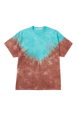 HAND DYEING AND PRINT TEE TYPE B-1-BLU