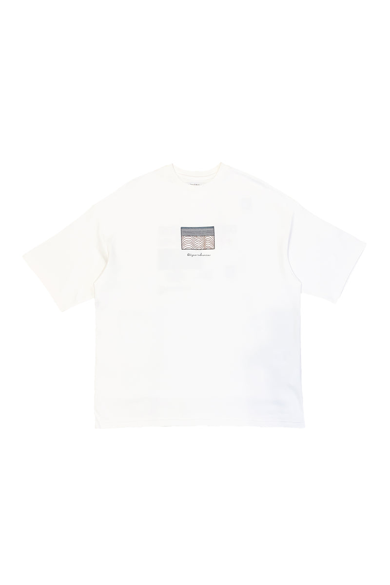OVER SIZED EMBROIDERY TEE WHT-D