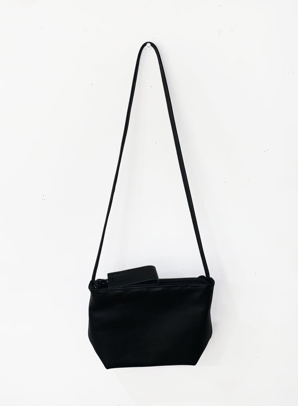 FLAT BOTTOM TOTE SMALL-C-BLACK