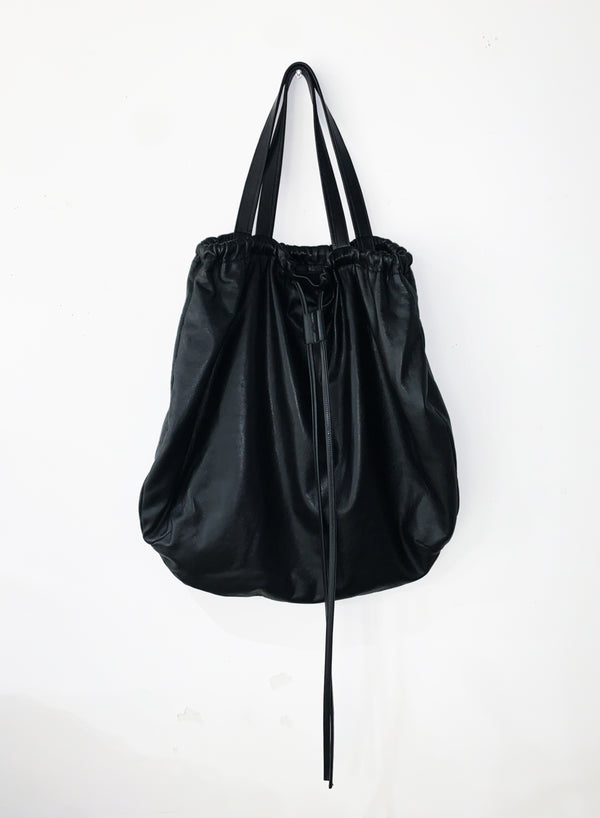 CIRCULAR SHOPPER LARGE-S-BLACK